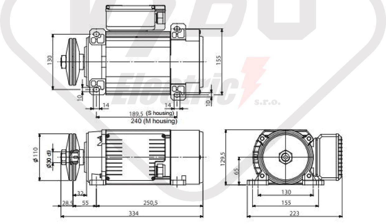 rozměrový výkres MR65-M1MA-2