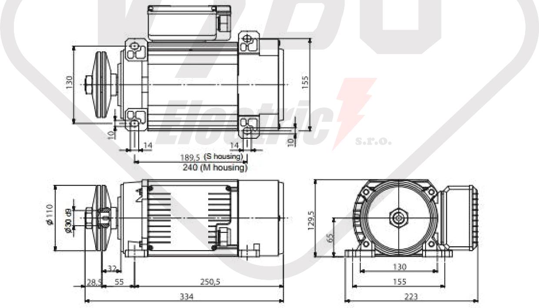 rozměrový výkres MR65-M1SA-2