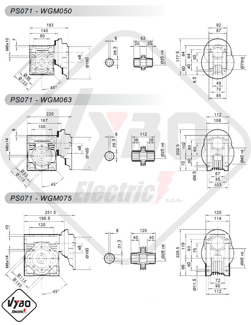 schémy zapojení čelní mezipřevodovka PS071